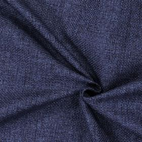 Nidderdale - Navy - Plain woven navy blue fabric