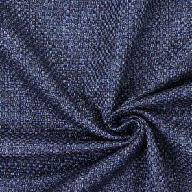 Bedale - Navy - Plain woven navy blue fabric