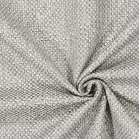 Bedale - Pebble - Plain woven pebble grey fabric