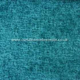 Zanzibar - Peacock - Jewel-like bright turquoise coloured hard wearing fabric which appears to be slightly textured, resulting in mottling