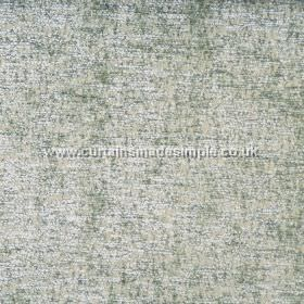 Zanzibar - Willow - Silvery green coloured hard wearing fabric with a patchy, mottled finish