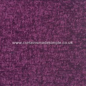 Zanzibar - Plum - Hard wearing fabric in a rich purple colour, with some darker areas due to being slightly mottled