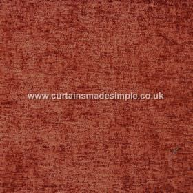 Zanzibar - Flame - Hard wearing fabric which is mottled in a brown-orange colour