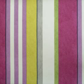 Bowden - Damson - Purple green and cream striped fabric