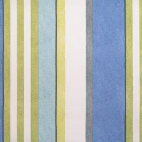 Bowden - Bluebell - Green and blue striped fabric