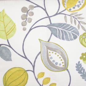 Zest - Mimosa - Modern simple mimosa yellow floral design on white fabric