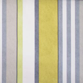Bowden - Mimosa - Neutral grey and yellow striped fabric