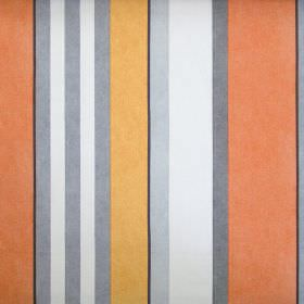 Bowden - Juice - Grey and orange striped fabric