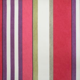 Bowden - Berry - Red purple and cream striped fabric