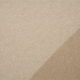 Plain Wool - Almond - Double sided lambswool fabric made with two very slightly different shades of light coffee brown