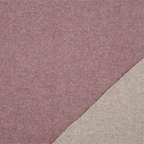 Plain Wool - Heather - Two similar light shades of lilac, one on each side of a double sided lambswool fabric