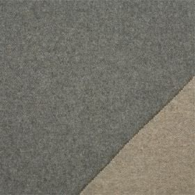 Plain Wool - Slate - Plain lambswool fabricmade with a double sided finish, with light brown-grey on one side and battleship grey on the othe
