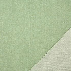 Plain Wool - Pea Green - Double sided fabric made in two similar light shades of jade green, made from lambswool