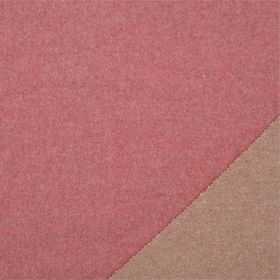 Plain Wool - Red Clover - Two light shades of baby pink, colouring each side of plain fabric made from lambswool