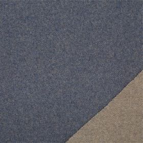 Plain Wool - Indigo - Plain fabric made from lambswool with iron grey on one side and denim blue on the other side