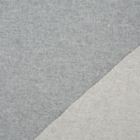 Plain Wool - Grey Flanel - Double sided lambswool fabric made in two slightly different light shades of grey