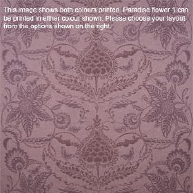 Paradise Flower - Heather - Lilac coloured lambswool fabric featuring ornate floral patterns in a slightly darker shade of purple