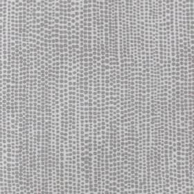 Dandaloo - Ash - Light grey fabric made entirely from linen decorated with a pattern of tiny dots in darker grey