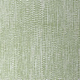 Dandaloo - Peridot - Fabric made from linen dyed in white featuring a pattern of small repetitive dots in peridot green