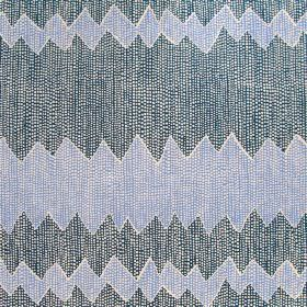 Akuna - Blues - Threaded fabric made entirely from linen in dark blue featuring very interesting horizontal strips