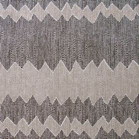 Akuna - Khol & Taupe - Fabric made of linen in colours kohl and taupe featuring interesting pattern of different horizontal stripes