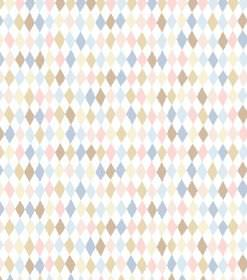 Alvar - Pink - Fabric which is hard wearing and covered in pastel brown, pink, blue and white coloured diamonds