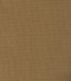Linus - Dark Yellow - Mid brown coloured fabric made from linen, with a dusky green hue