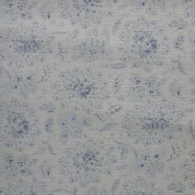 Antoinette - Swedish-Blue - Very subtle pale blue florals patterning fabric made ina very similar light shade of grey