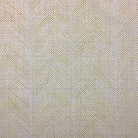 Herringbone - Citrine - A thin herringbone design printed on 100% linen fabric in light shades of grey and gold