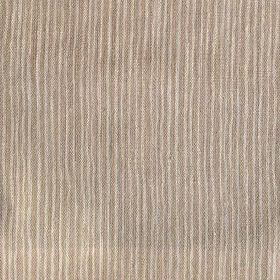 Majolica Stripe - Fudge - Fabric with a 100% linen content featuring an uneven striped pattern in dark brown and cream