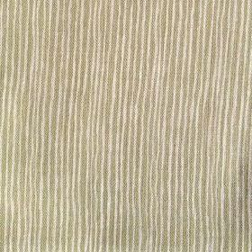Majolica Stripe - Apple - Olive green and cream making up this 100% linen fabric's uneven striped pattern