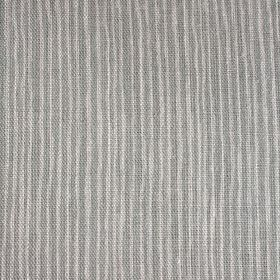 Majolica Stripe - Faded Duck - Uneven, narrow stripes in two different shades of grey running vertically down fabric made from 100% linen
