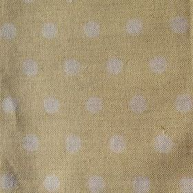 Polka Dot - Mimosa - Linen fabric in pale green, with a subtle pattern of pale grey polka dots