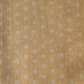Polka Dot - Custard - Polka dot linen fabric in gold and light grey