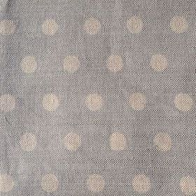 Polka Dot - Powder - Very pale shades of blue and grey making up this linen fabric's polka dot pattern