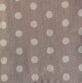 Polka Dot - French Grey - Fabric made from linen in two different shades of grey, with a pattern of fairly large polka dots