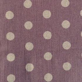 Polka Dot - Parma Violet - Cream-grey and dusky purple coloured polka dot patterned linen fabric