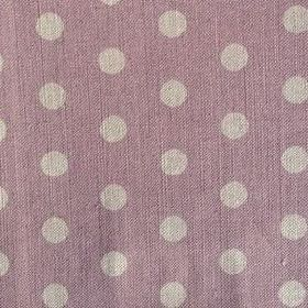 Polka Dot - Lavender - Linen fabric covered in polka dots in light shades of grey and purple