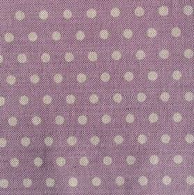 Polka Dot - Liliac - Lilac coloured linen fabric covered in light grey polka dots