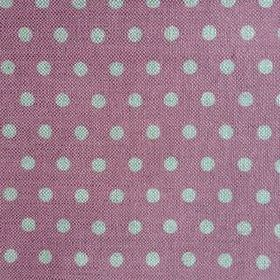 Polka Dot - Rose - Linen fabric in a dusky pink-purple colour as a background to grey polka dots