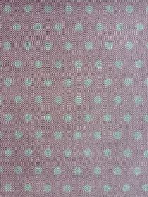 Polka Dot - Ballerina - Grey and pink-grey coloured polka dot patterned linen fabric