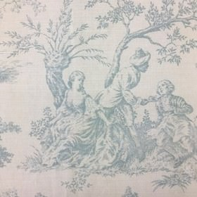 Pompadour Toile - Faded Duck Egg -