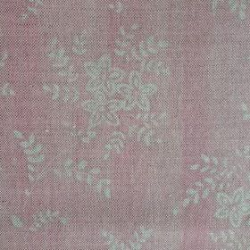 Suzi - Ballerina - Linen fabric in pale shades of pink and grey, with a pattern of small, simple flowers and leaves