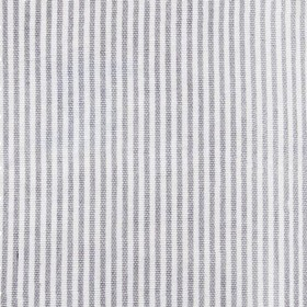 Stamford - Grey Ticking Stripe - 100% cotton fabric with a very simple pattern of narrow, vertical, alternating grey and white stripes