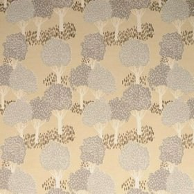 Slottskogen - Beige - Beige IKEA fabric with a modern forest print design