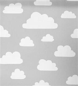 Roman blinds farg and form clouds grey blackout for Grey childrens fabric