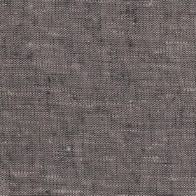 Maya Linen - Mocha Natural - Dark grey and white linen threads woven together to form a fabric