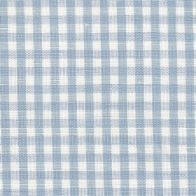 Rut - Light Blue White - A light blue and white checked pattern woven into this linen fabric