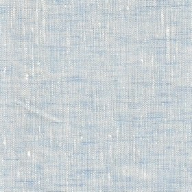 Maya Linen - Light Blue White - Linen fabric loosely woven from light blue and cream coloured threads of different thicknesses