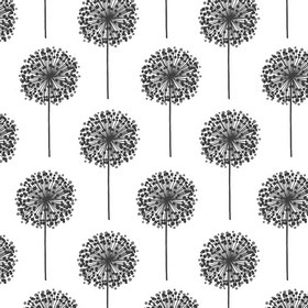 Froboll - Black White - White fabric with black dandelions from IKEA